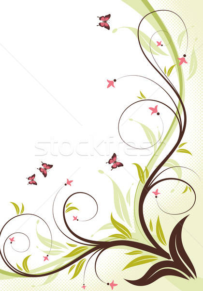 Floral frame Stock photo © -TAlex-