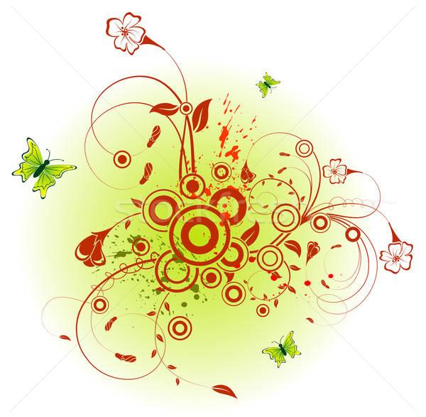 Streszczenie kwiatowy chaos Motyl projektu Zdjęcia stock © -TAlex-