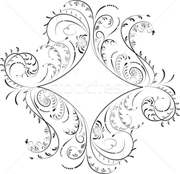 Stock photo: Element for design, corner flower, vector