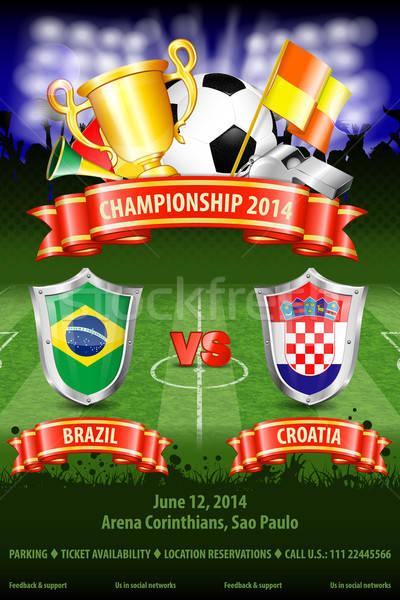 サッカー ポスター 世界 選手権 2014 ブラジル ストックフォト © -TAlex-