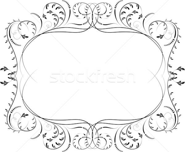 Alkotóelem terv sarok virág vektor virág művészet Stock fotó © -TAlex-