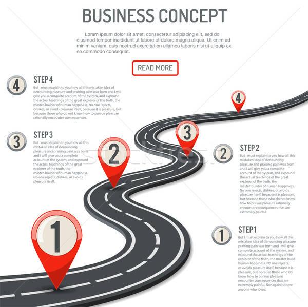 Сток-фото: бизнеса · прогресс · дороги · стиль · иконки · изолированный