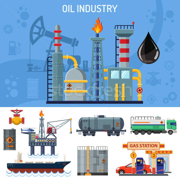 Oil Industry Banner Stock photo © -TAlex-