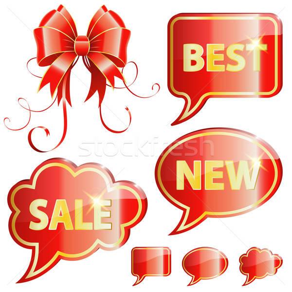 Holiday Speech Bubbles Stock photo © -TAlex-
