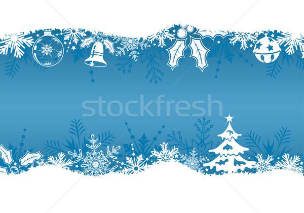 Karácsony karácsonyfa harang dekoráció alkotóelem fa Stock fotó © -TAlex-