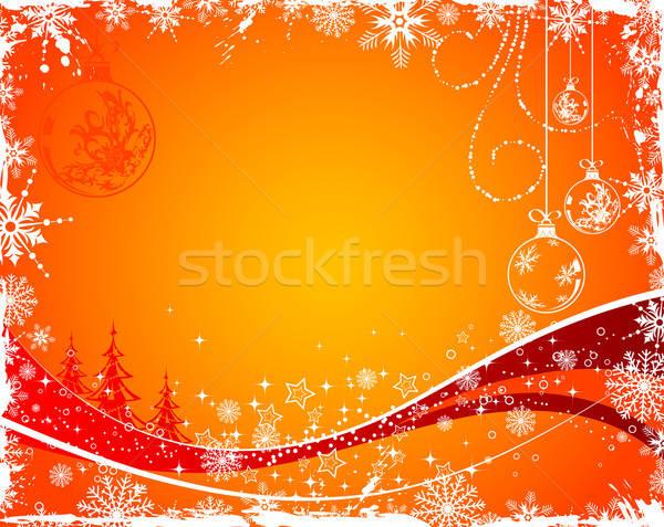 Karácsony grunge karácsonyfa gömb alkotóelem terv Stock fotó © -TAlex-