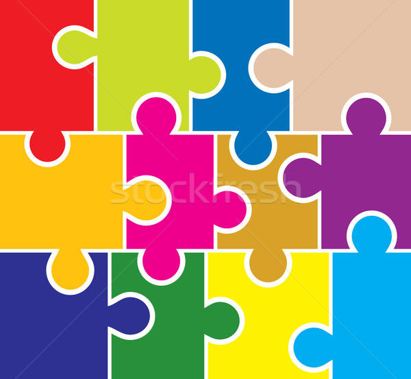 Stock photo: Puzzle background, elements for design, vector