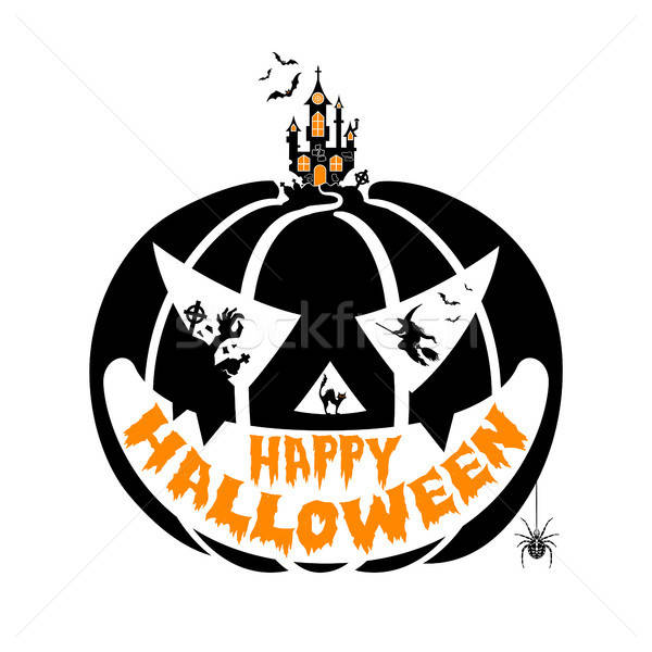 Happy Halloween Party Poster Stock photo © -TAlex-