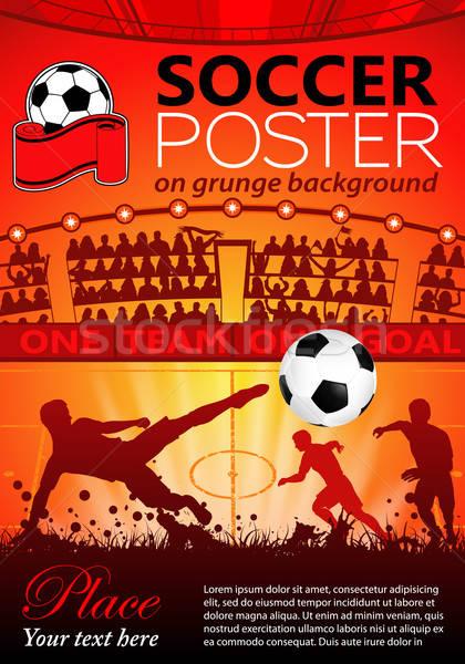 Stock photo: Soccer Poster