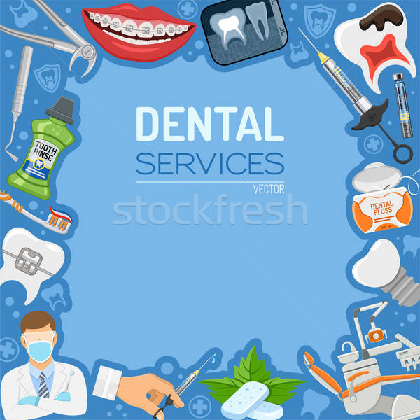 Dental Services banner and Frame Stock photo © -TAlex-