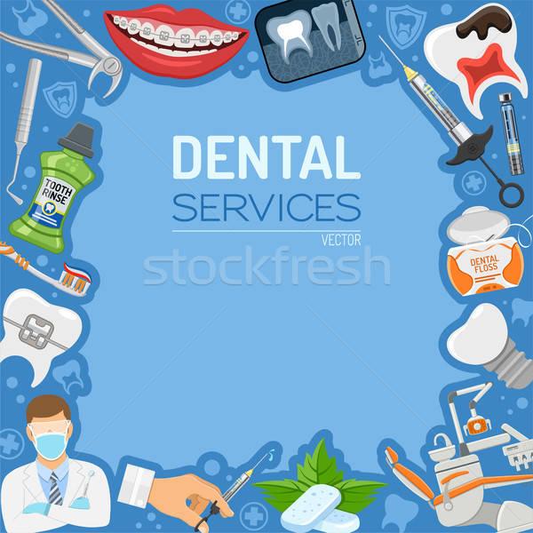 стоматологических услугами баннер кадр лечение зубов гигиена Сток-фото © -TAlex-