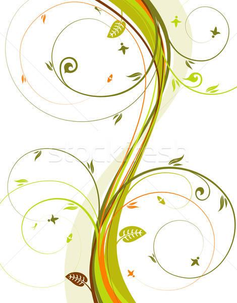 Floreale fiore modello onda elemento design texture Foto d'archivio © -TAlex-