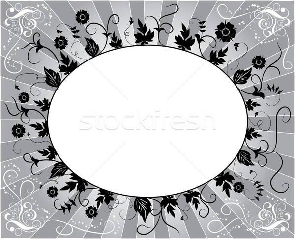 Stok fotoğraf: Dizayn · çiçek · çerçeve · örnek · sanat