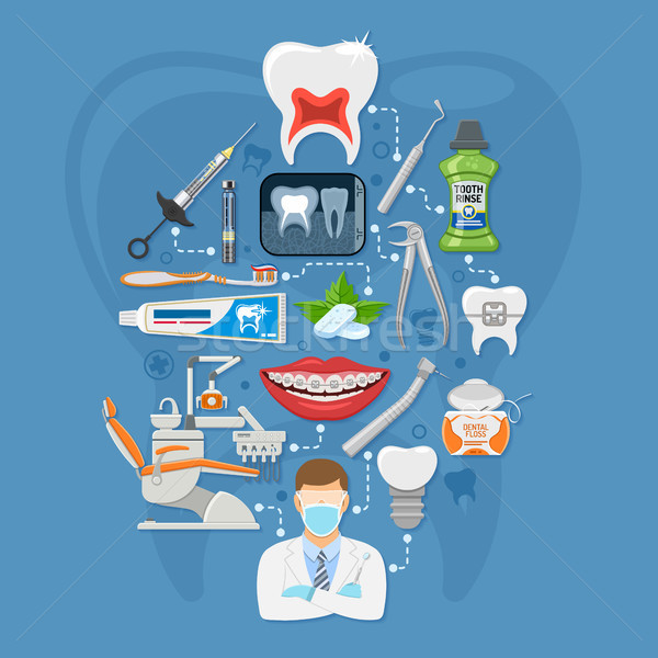 Dental Services Infographics Stock photo © -TAlex-