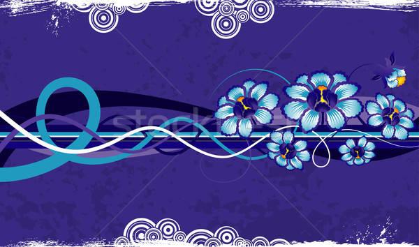 аннотация цветочный хаос Гранж краской элемент Сток-фото © -TAlex-