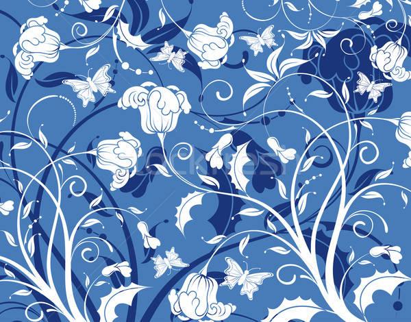 抽象 花朵图案 蝴蝶 设计 花 商业照片 -talex