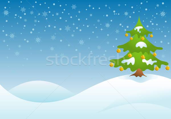 Stock fotó: Karácsony · karácsonyfa · harang · textúra · absztrakt · terv