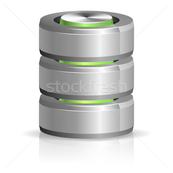 Database icon geïsoleerd witte computer Stockfoto © -TAlex-