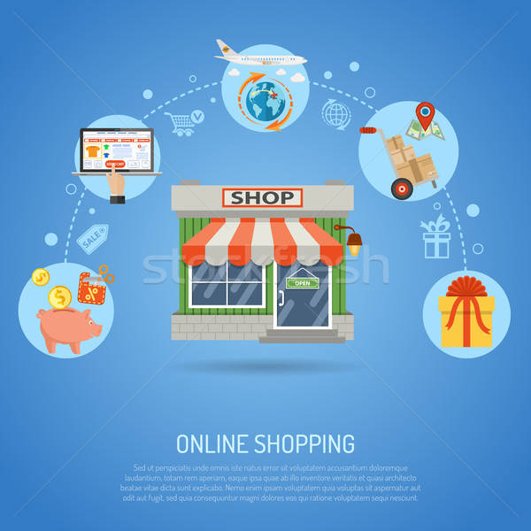Online Shopping Concept Stock photo © -TAlex-