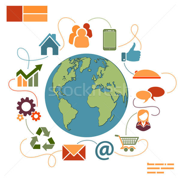 Affaires internet achat icônes modernes Photo stock © -TAlex-