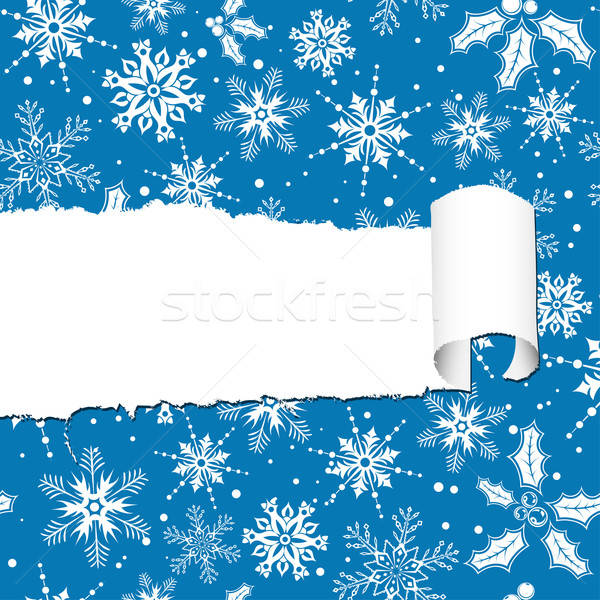 Stock photo: Torn Christmas Paper