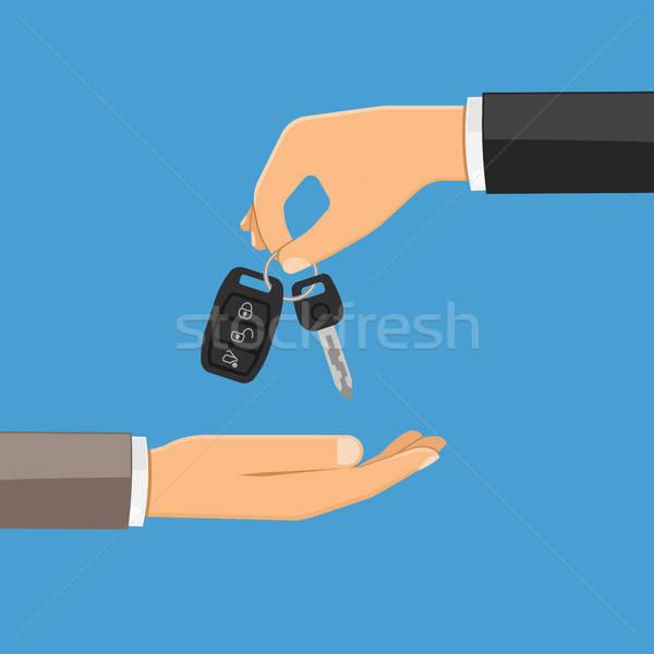 Vétel bérlet autó kéz slusszkulcs egyéb Stock fotó © -TAlex-