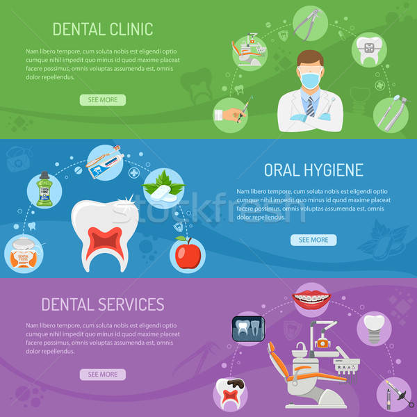 Dental Services horizontal banners Stock photo © -TAlex-