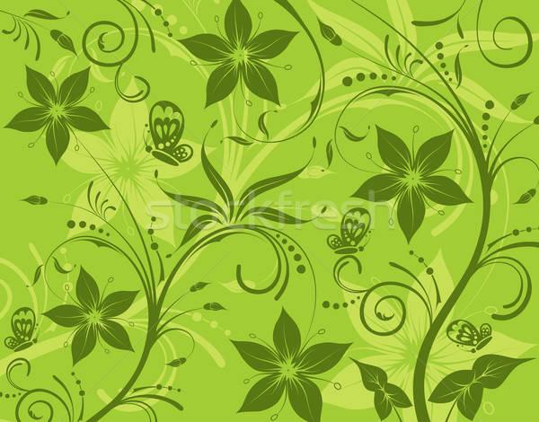 Abstract bloempatroon vlinder element ontwerp bloem Stockfoto © -TAlex-