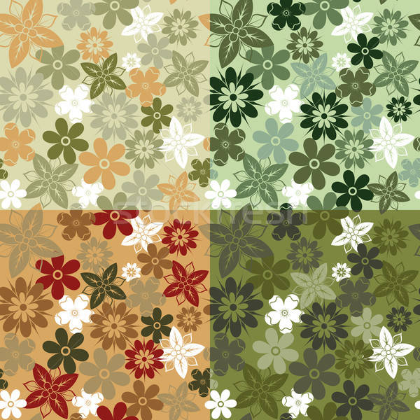 Seamless flower pattern Stock photo © -TAlex-