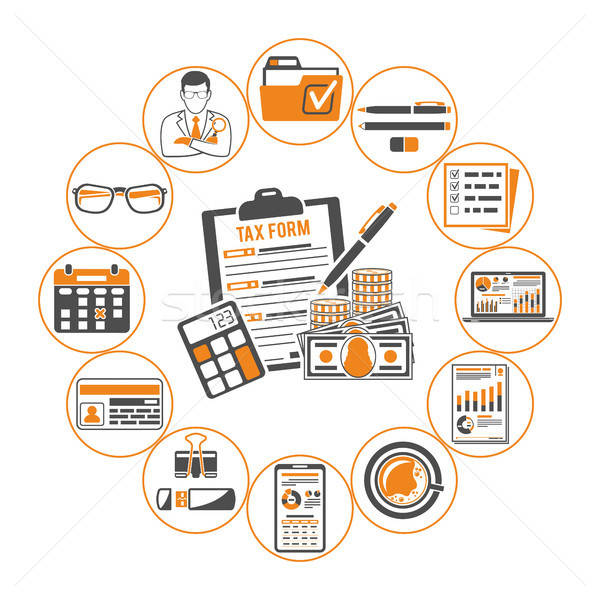 Auditing, Tax, Accounting Infographics Stock photo © -TAlex-