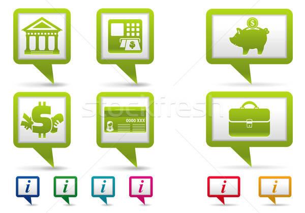 карта финансовых бизнеса иконки веб путешествия Сток-фото © -TAlex-