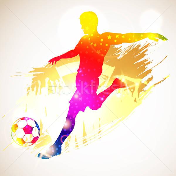Stok fotoğraf stok vektör ilüstrasyonu silhouette soccer player