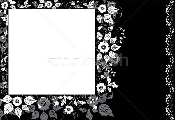 Framed background flower, elements for design Stock photo © -TAlex-