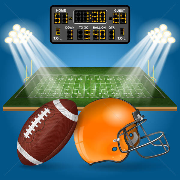American Football Field with Scoreboard Stock photo © -TAlex-