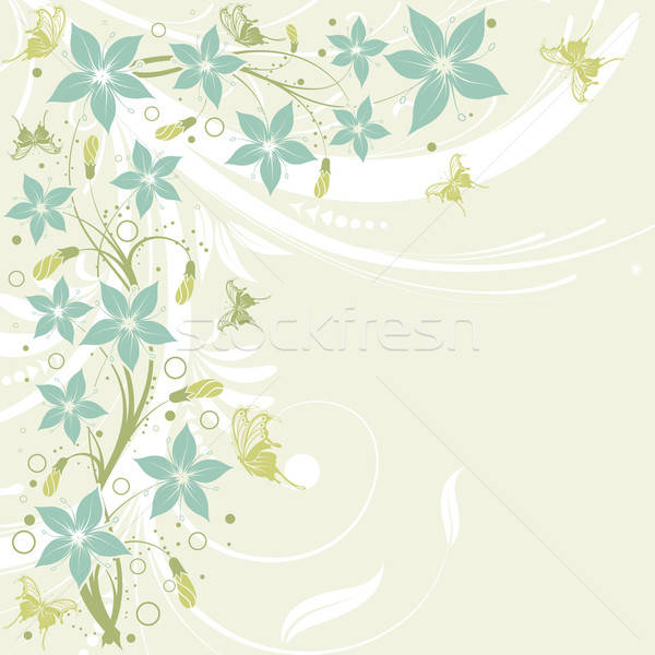 Flower frame Stock photo © -TAlex-