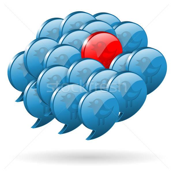 Especial opinión medios de comunicación social aves uno Foto stock © -TAlex-