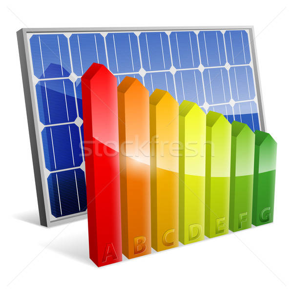 Solar Panel with Energy Efficiency Rating Stock photo © -TAlex-