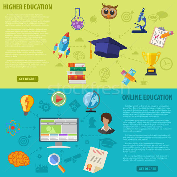 Education Banners Stock photo © -TAlex-