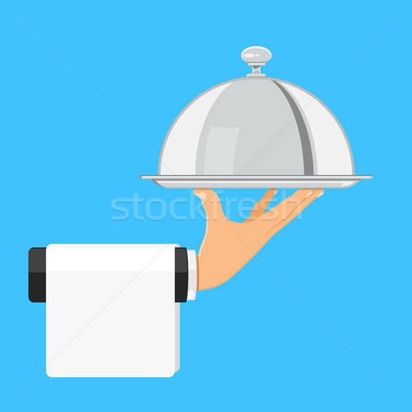 Hand with Tray Stock photo © -TAlex-