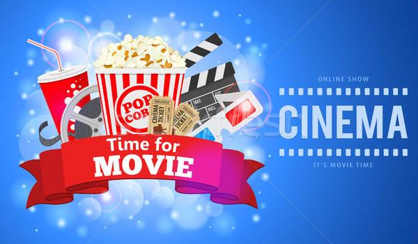 Cinema and Movie Banner Stock photo © -TAlex-