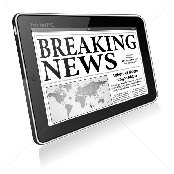 Concept - Digital Breaking News Stock photo © -TAlex-