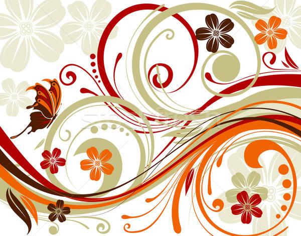 абстракция цветок бабочка волновая картина элемент дизайна Сток-фото © -TAlex-