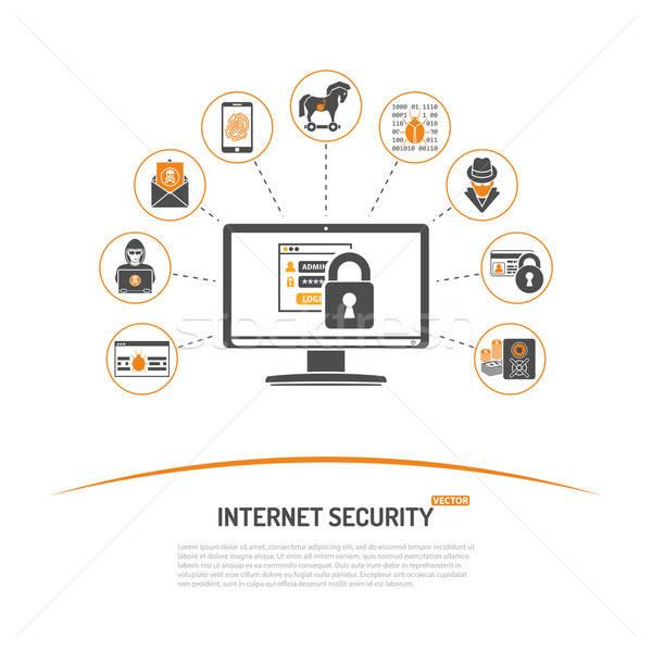 Internet sécurité flyer affiche site web Photo stock © -TAlex-