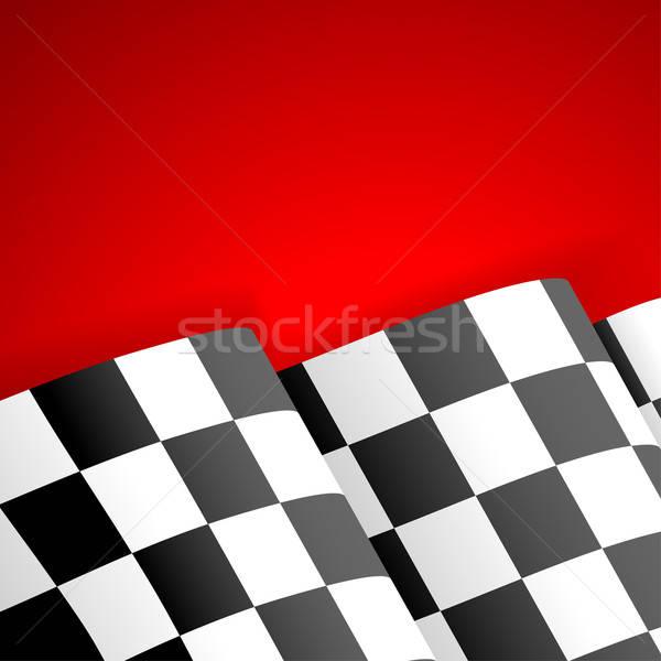 Racing bandiera finire vincitore rosso Foto d'archivio © -TAlex-