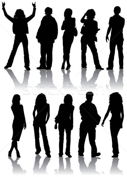 Vector silhouettes man and women Stock photo © -TAlex-