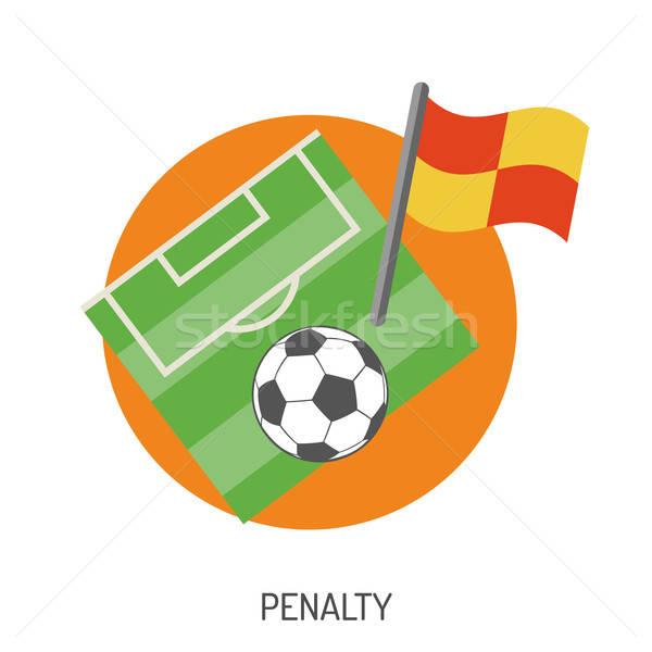 Voetbal voetbal flyer poster website Stockfoto © -TAlex-