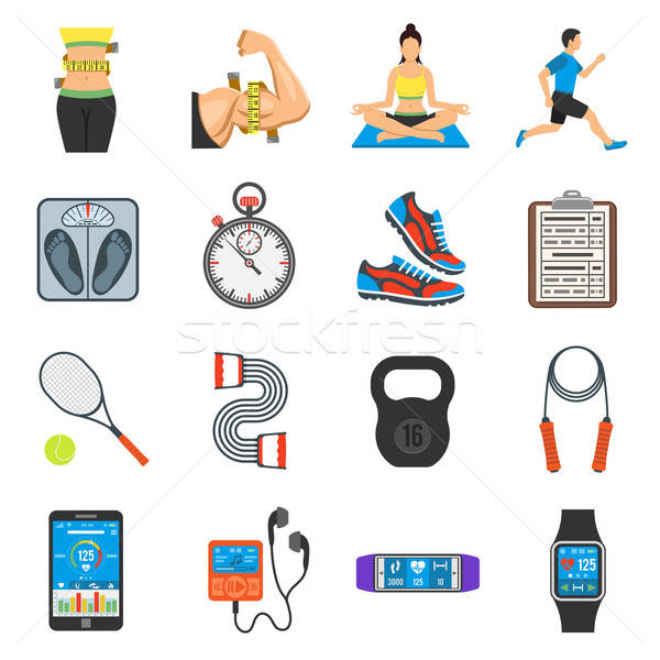 Foto stock: Fitness · gimnasio · salud · móviles