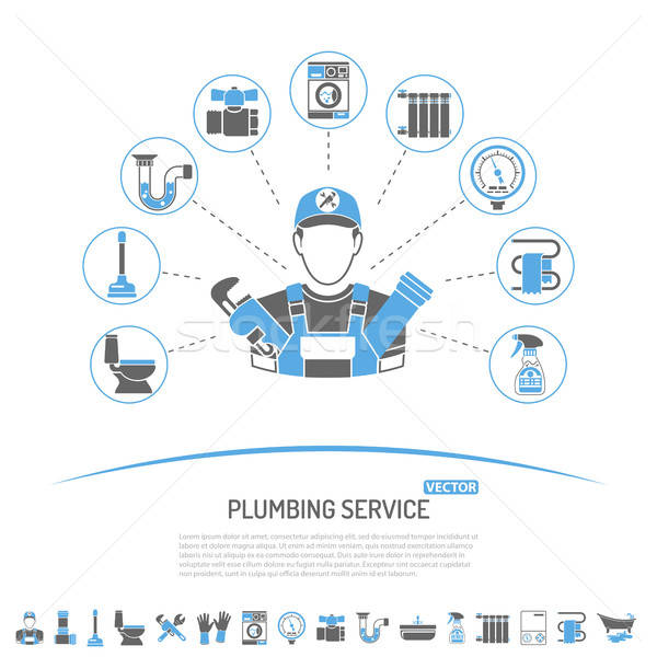 Plumbing Service Infographics Stock photo © -TAlex-