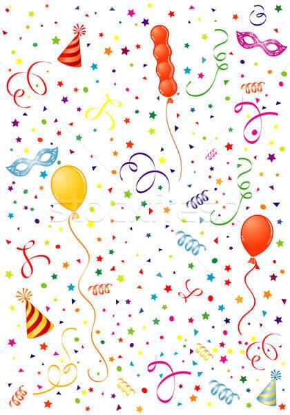 Tempo de festa balão carnaval máscara seis elemento Foto stock © -TAlex-