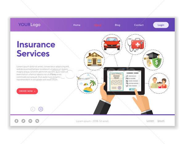 Online Insurance Services Stock photo © -TAlex-